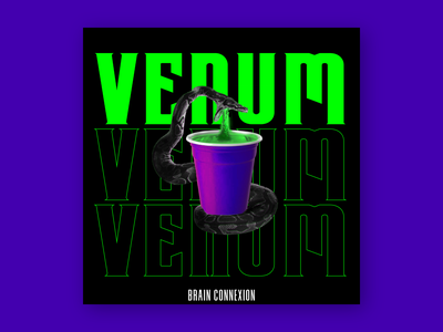 Venum - Album Cover rap artwork france poster album venum venom snake cup party cover design cover artwork