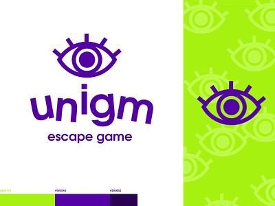 Unigm - identity escape game brand logo affinitydesigner affinity affinity designer branding design vector illustration