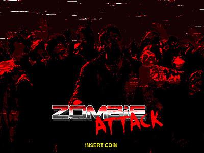 Zombie Attack pixel retro arcade zombie