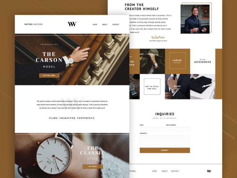 Watson PageCloud Template content website builder modern layout blog gallery template app typography web design web design pagecloud