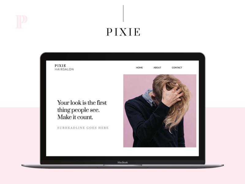 Pixie PageCloud Template content website builder web design modern layout blog gallery template web design app type typography design pagecloud