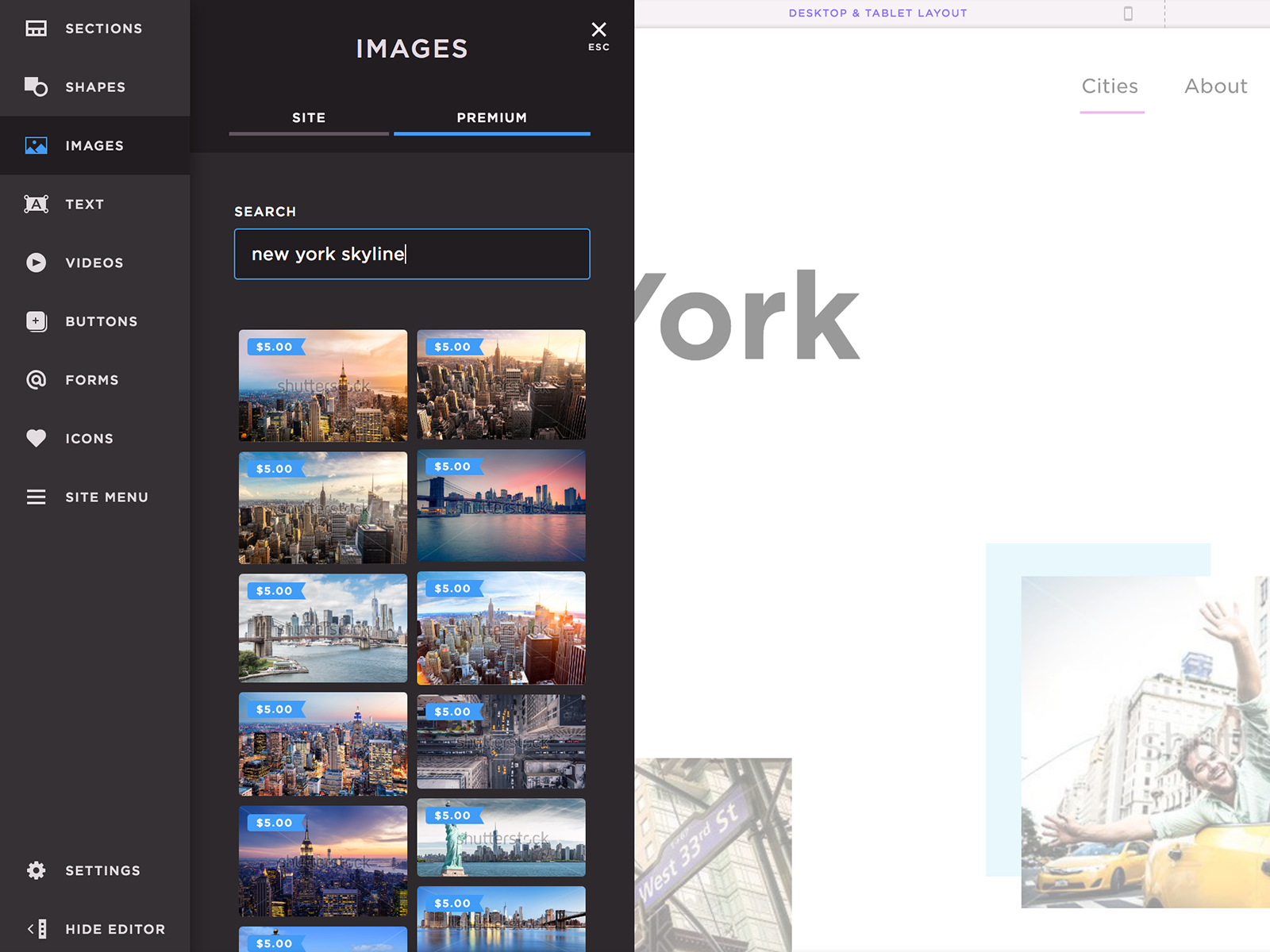 Shutterstock int pagecloud search
