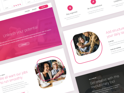 Oslo PageCloud Template gradient bold website builder web design web typogrpahy type template pagecloud modern gallery content blog layout blog design app