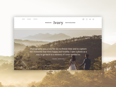 Ivory PageCloud Template magazine layout pagecloud design photography typography type app web template gallery blog blog layout modern web design website builder content