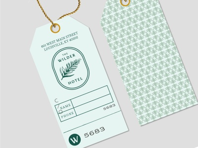 Wilder Luggage Tag branding agency kentucky louisville hotel print design print tag luggage tag collateral brand identity branding