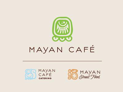 Mayan Cafe Branding cafe mayan mayan cafe kentucky louisville illustration logotype restaurant logo restaurant branding restaurant brand identity logo design branding