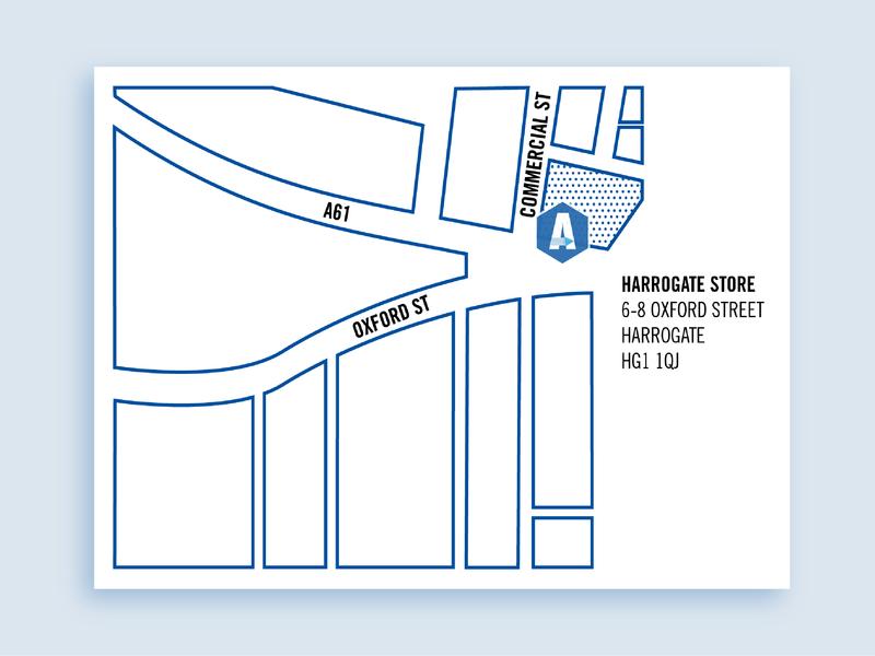 Store map simplicity colour scheme blue graphic design graphics graphic cartography map wayfinding branding design