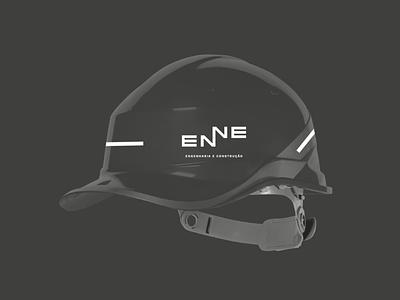 ENNE Branding / Construction Helmet illustrator clean identity lettering minimal type design flat stationary typography branding vector logo graphicdesign