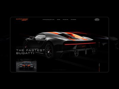 Concept for the Bugatti Chiron Super Sport 300+ webdesign clean design homepagedesign car bugatti concept design concept minimal graphicdesign web app ui ux clean flat design