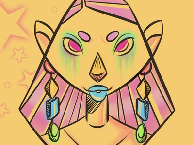 Starstruck digital drawing digitalart digital clipstudiopaint characterdesign project illustrator illustration
