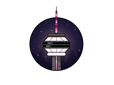 CN Tower toronto structure sticker landmark cn canada illustration icon tower building