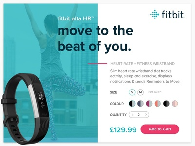 Product Card for a Fitbit Alta HR