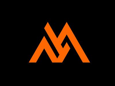 AM Strata building strata logo mark m a am