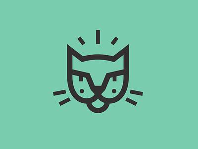 Mancat growl mark logo animal pussycat. whiskers pussy feline meow cat