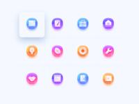 icon ux blue colorful interface art icon design information design ui illustration
