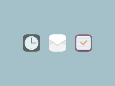 some icons icon clock mail todo