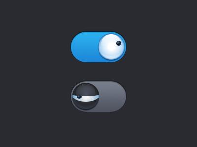 Switch eyeball switch ui