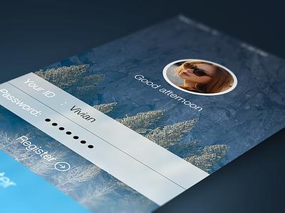login UI ui login interface ios7 iphone