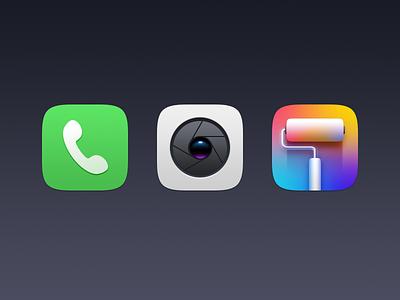 some icons icon theme camera telephone ui