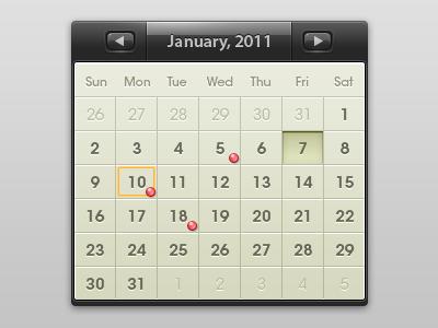 calendar calendar ui