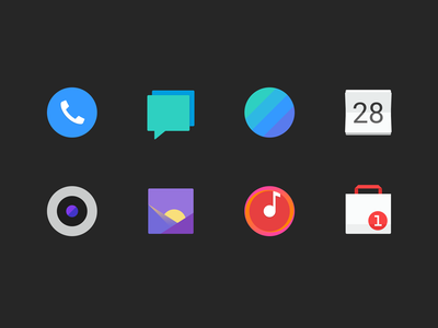 mobile phone icons P1 browser sms album store calendar camera phone music system android ui icon