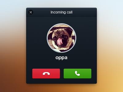 Incomingcall ui interface mac os dialog box pug incoming call