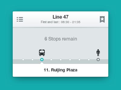 bus line bus ui interface
