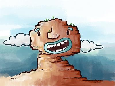 Cactus Joe goofy funny procreate art procreate illustration digital painting digital illustration digital art digitalart design character