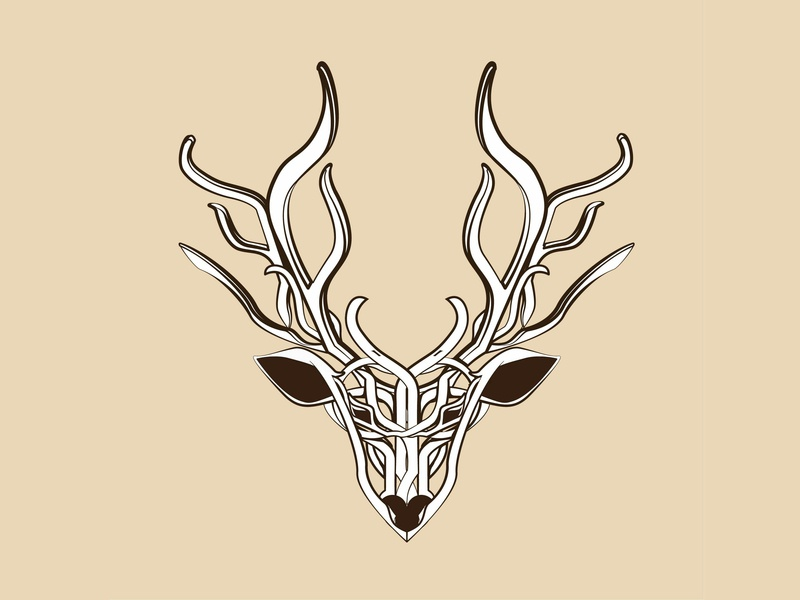 Deer brownstone imagine deer logo forrest animal ai illustration 2d art 2d deer