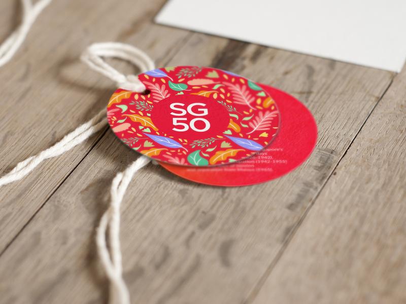 SG50 pattern nametag tag indentity trend 2019 trending illustration brand branding design 2d