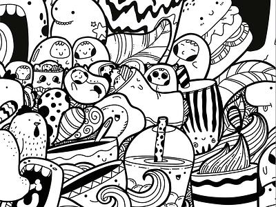 Drink and food doodle art drink foodie funny cute fun funny cute doodle art doodleaday drawing sketching doodleart doodle illustration design 2d
