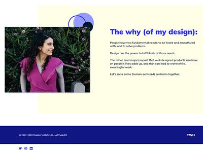 New Portfolio! 2.0 personal website product design ux design uxdesign portfolio website website design visual design redesign portfolio site portfolio