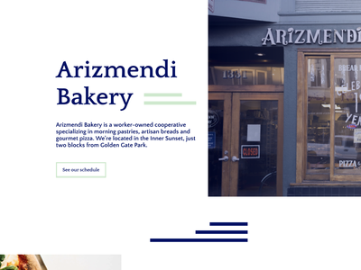 Bakery Website Design: Arizmendi shop homepage figma website concept website design website redesign sharpen.design experiment san francisco bakery web design visual design