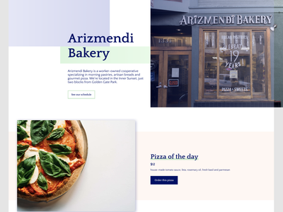 Arizmendi Bakery Website Part II bread pizza shop redesign website concept website figma bakery san francisco flat design web design sharpen.design visual design