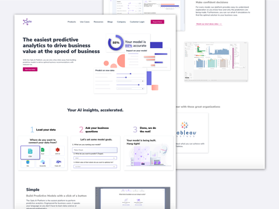 Ople: Product Page; details ople illustration automl launched live website real project visual design web design ai machine learning data science product page product website design website