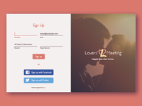 Daily UI 1: Dating App Signin