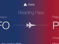 Daily UI 24: Boarding Pass