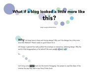 Colorful Blog Design Concept