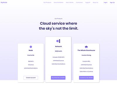 MyNode Pricing Page segment visual design flat design ux  ui design cloud storage cloud pricing plan pricing page dailyui web design daily ui