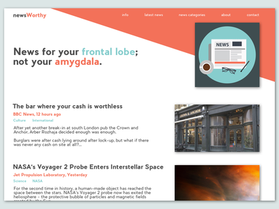 Frontal-Lobe News ui homepage design homepage news portal news website design flat design visual design dailyui web design daily ui