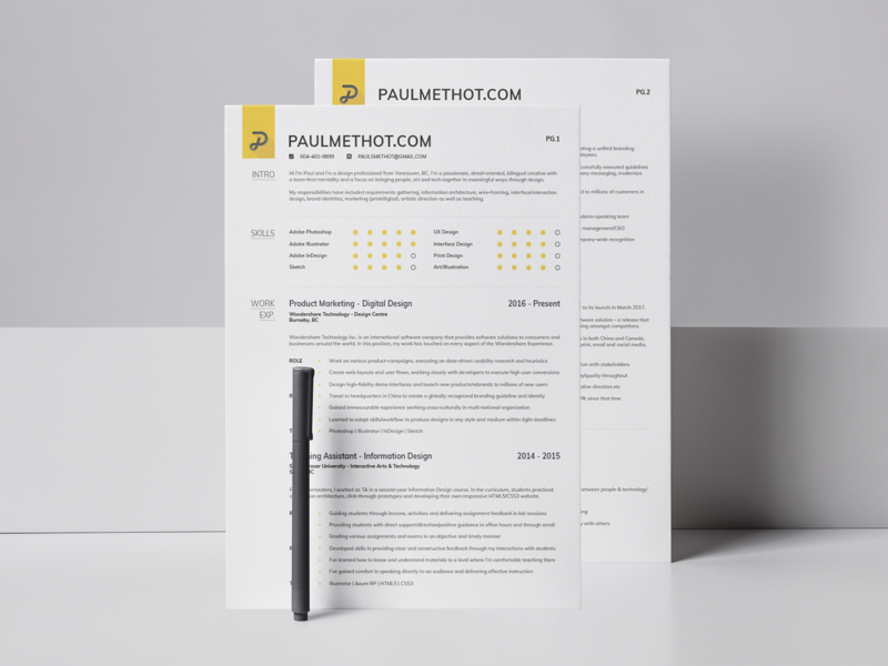 Personal Branding 2018 | Résume graphics job cv job application black and yellow graphic  design minimalism grid layout grid design grid design resume mockup mockup brand identity brand assets brand personal branding resume design resume personal brand branding