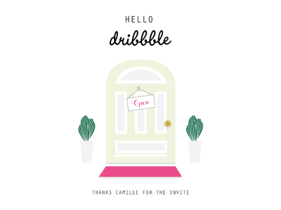 Hello Dribbble adobe experience design first shot