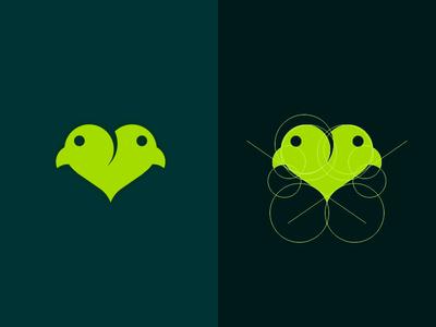 Lovebird Lover bird love animal lover lovebird logo