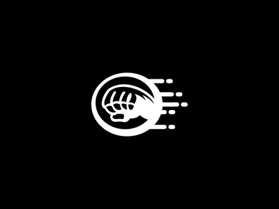 Drag Fist white black simple drag race fist logo