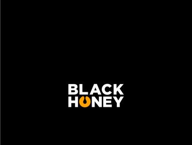 BLACK HONEY Logo concept design simple honeybee yellow honey black logodesign logo