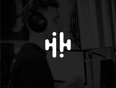 Double H music logo concept bar music hh h letter h logo branding white logo design design simple black logo