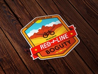 Red Line Boguty Adventure Sticker