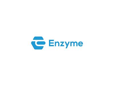Enzyme lukedesign luke logodesign logo symbol mark icon molecule software enzyme e