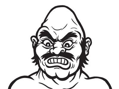 Bull punchout boxing ink illustration mike tyson nintendo nes
