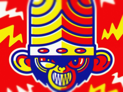 Mojo Jojo geometric evil cartoon network monkey powerpuff girls illustration cartoon vector